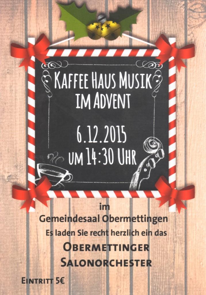 Kaffeehaus Musik im Advent