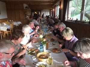 Abschluss-Hock im Gasthaus Hirschen