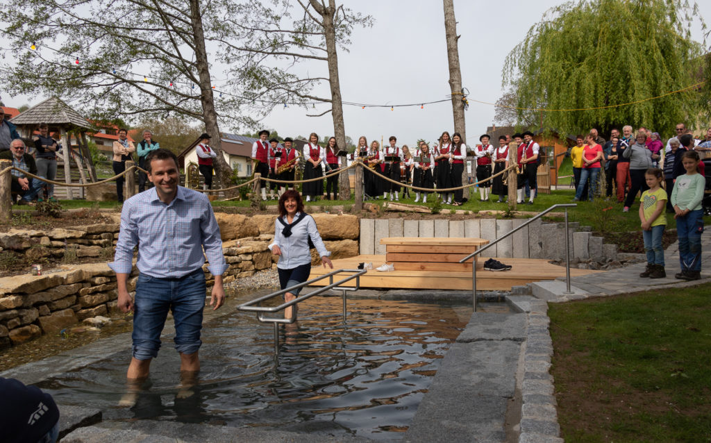 Bürgermeister Tobias Gantert und Eva Kohler